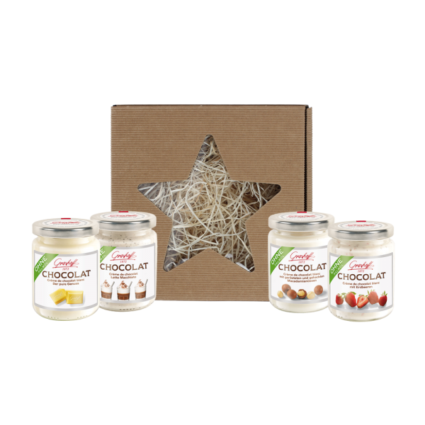 Geschenkbox weiße Schokolade (Weihnachtsbox)