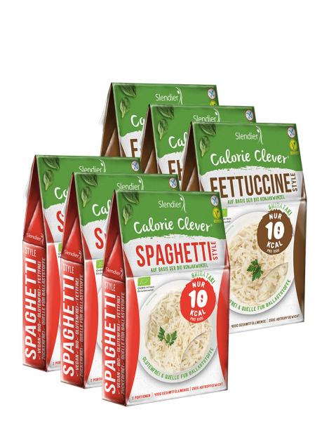 6x Bio Konjak Pasta - Probierpaket Italien