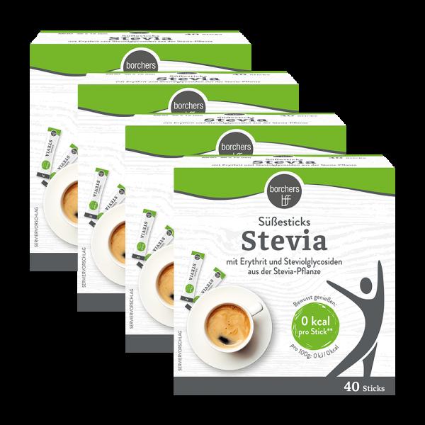 4x Stevia Süßesticks 40 Stk.