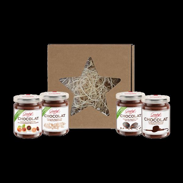 Geschenkbox Dunkle Schokoladencreme (Weihnachtsbox)