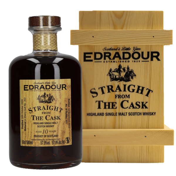 Edradour Sherry Straight from the Cask - 10 Jahre - 2009/2019 - Single Malt Whisky - 57,9 % vol.