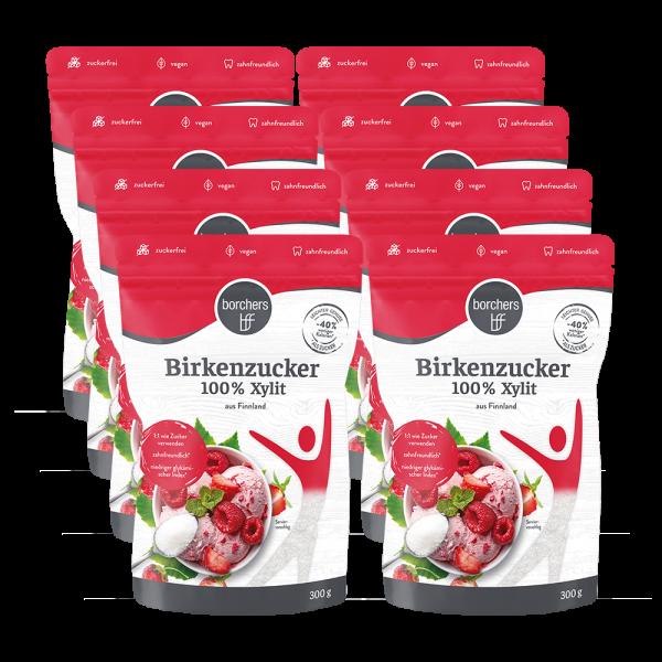 8 x Premium Birkenzucker 100 % Xylit