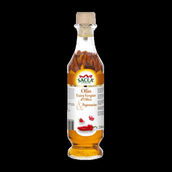 Saclà Natives Olivenöl Extra mit Chilischoten 250ml
