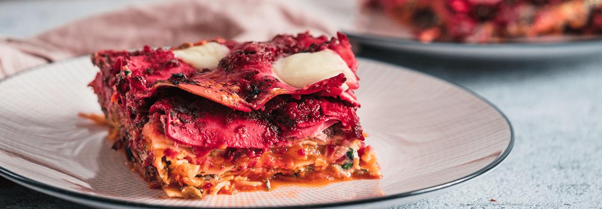 Vegane Regenbogen-Lasagne