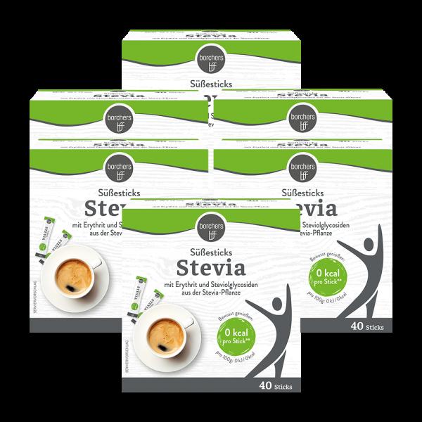 6x Stevia Süßesticks 40 Stk.