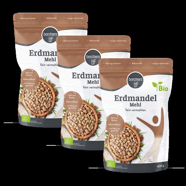 3 x Bio Premium Erdmandelmehl