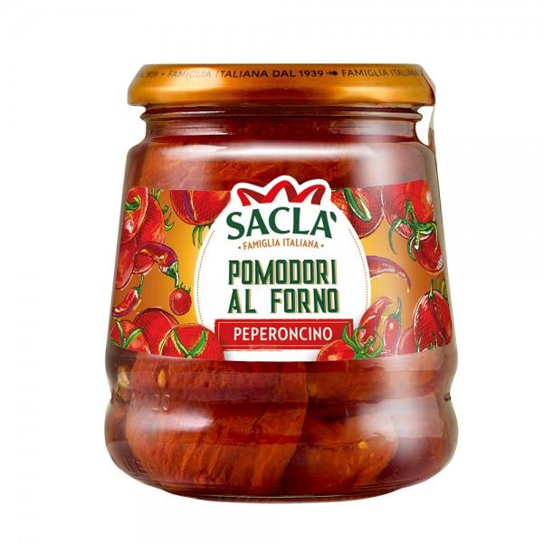 Ofengebackene Tomaten mit Pfefferschoten