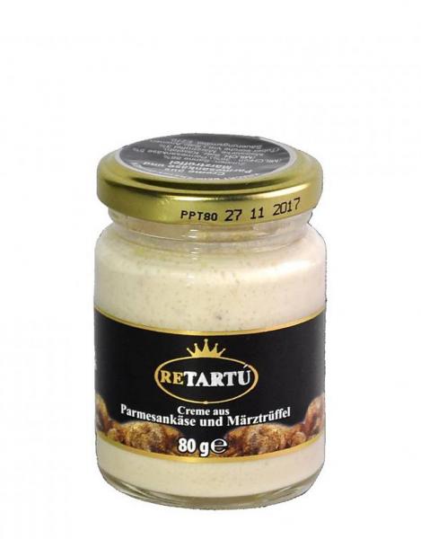Creme aus Parmesankäse und Märztrüffeln