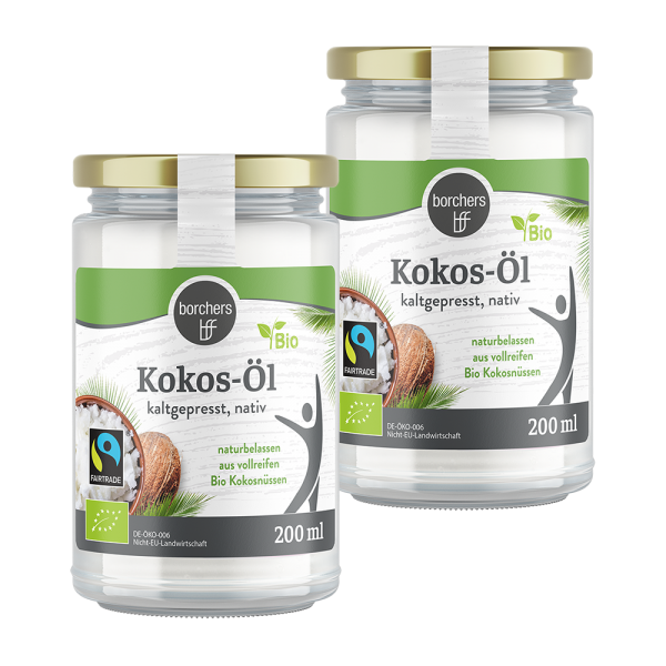 2 x Bio-Fairtrade-Kokosöl