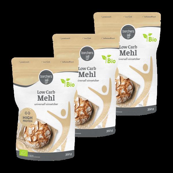 3x Bio Low Carb Mehl