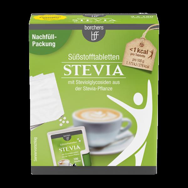Stevia Nachfüllpack Süßstofftabletten 120 Stk.