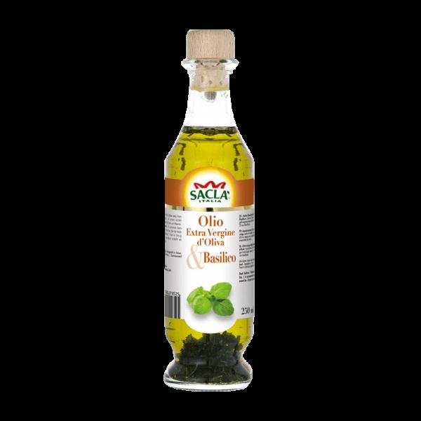 Natives Olivenöl Extra mit Basilikum