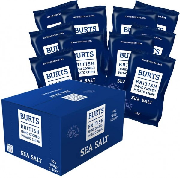 10x British Potato Chips Sea Salt