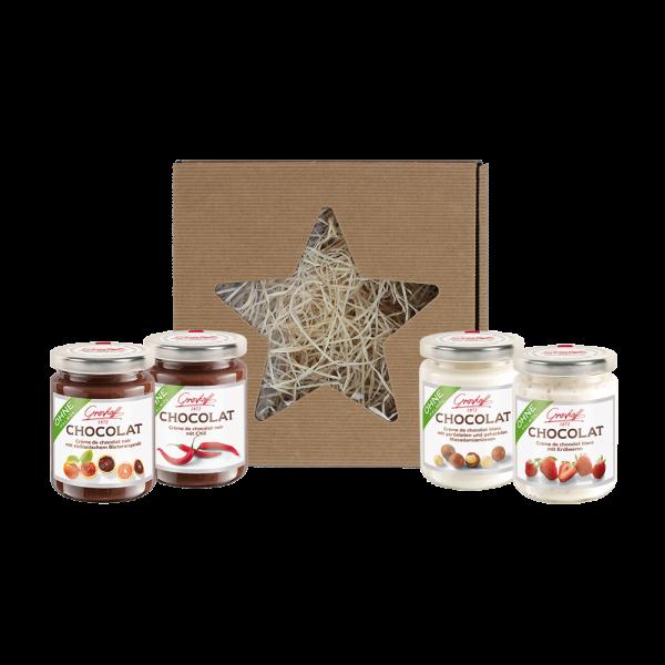 Geschenkbox weiße & dunkle Schokolade (Weihnachtsbox)