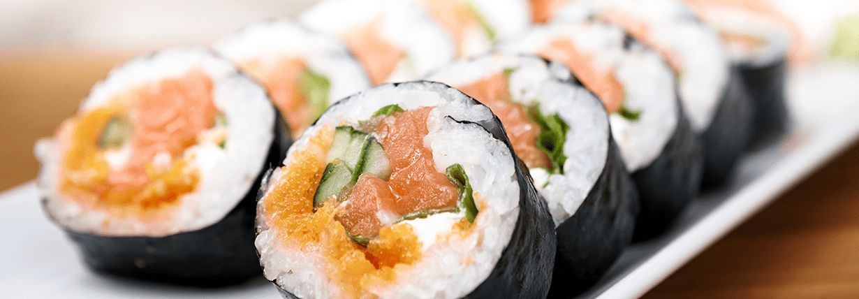 Sushi mit Slendier Reis