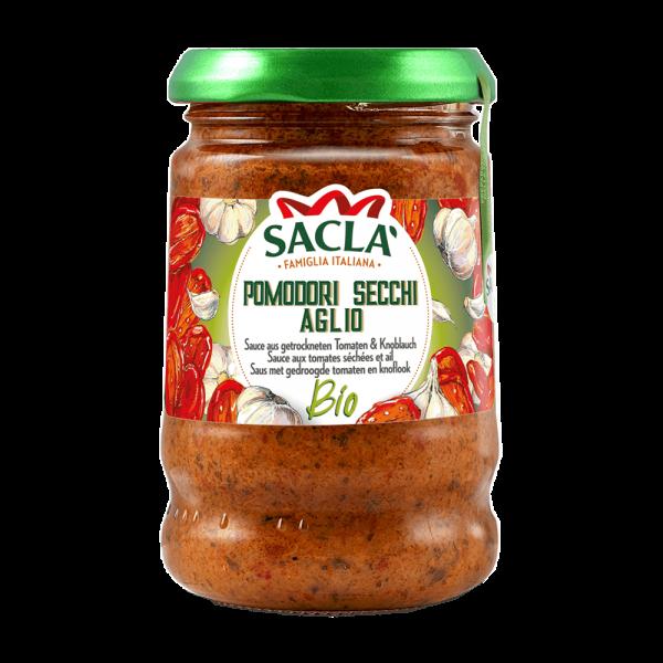 Bio Sauce Getrocknete Tomaten und Knoblauch