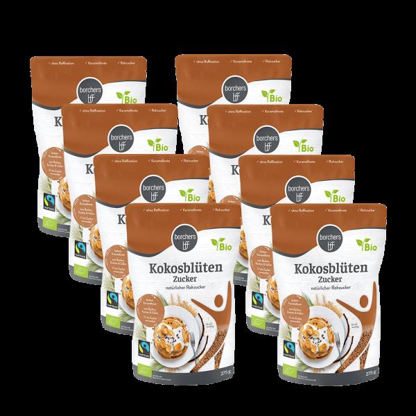 8x Bio Fairtrade Kokosblütenzucker